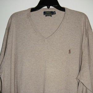 Polo Ralph Lauren v-neck cotton sweater XXL